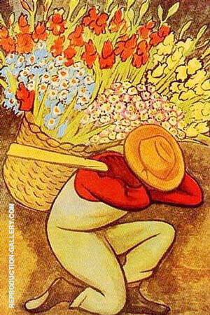 Reproduction of El Vendedor de Flores by Diego Rivera | Oil Painting Replica On CanvasReproduction Gallery