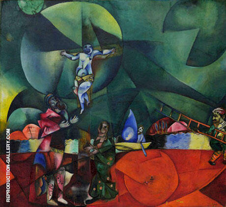 Calvary 1912 Painting By Marc Chagall - Reproduction Gallery