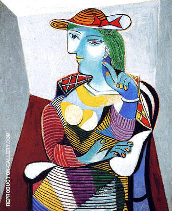 Portrait de Marie-Therese 1937 By Pablo Picasso - Oil Paintings & Art Reproductions - Reproduction Gallery
