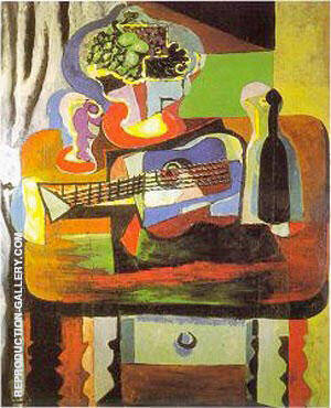 Verre, Bouquet, Guitare, Bouteille 1919 By Pablo Picasso Replica Paintings on Canvas - Reproduction Gallery