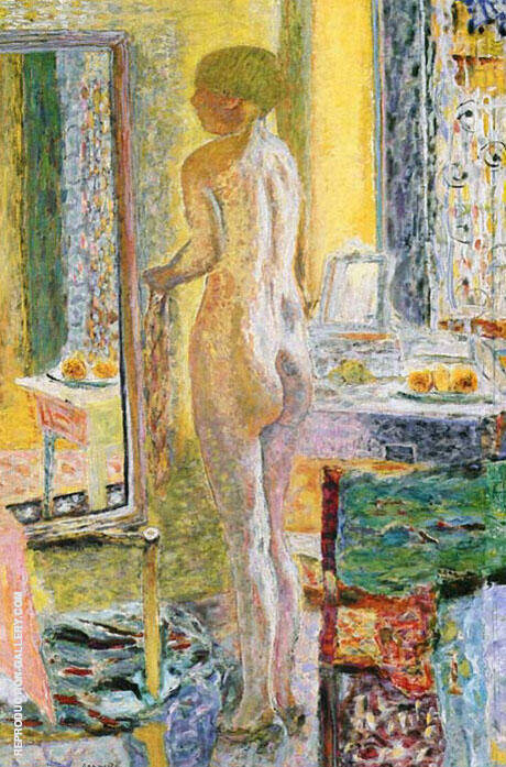Nude before the Mirror 1931 By Pierre Bonnard
