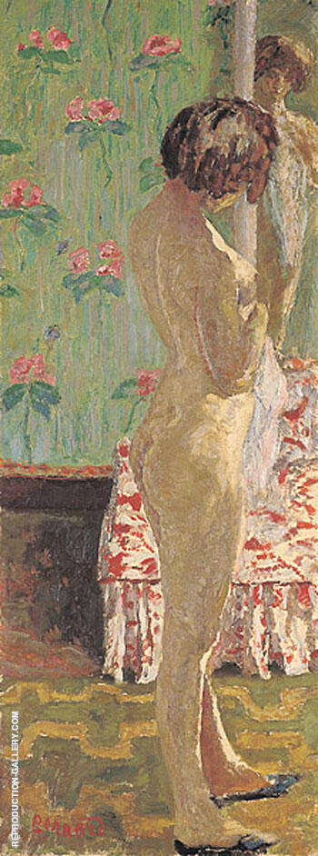 Woman in Front of a Mirror 1908 By Pierre Bonnard