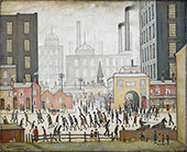Coming from the Mill 1930 By L-S-Lowry