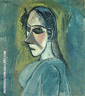 Bust of a Woman 1907 Painting By Pablo Picasso - Reproduction Gallery