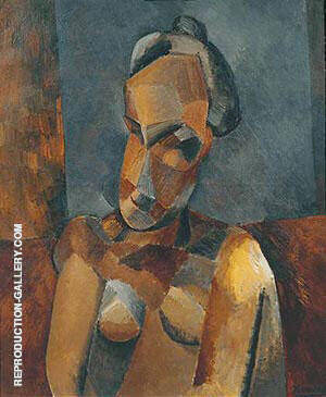 Reproduction of Bust of a Woman 1909 by Pablo Picasso | Oil Painting Replica On CanvasReproduction Gallery
