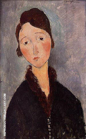 Portrait of a woman 1918 By Amedeo Modigliani Replica Paintings on Canvas - Reproduction Gallery