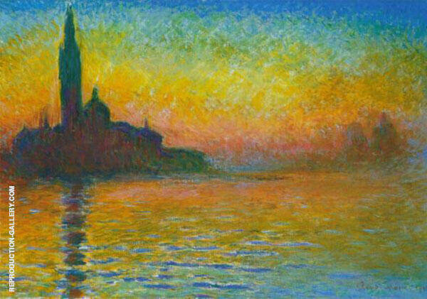 Venice at Twilight 1908 Painting By Claude Monet - Reproduction Gallery