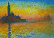 Venice at Twilight 1908 By Claude Monet