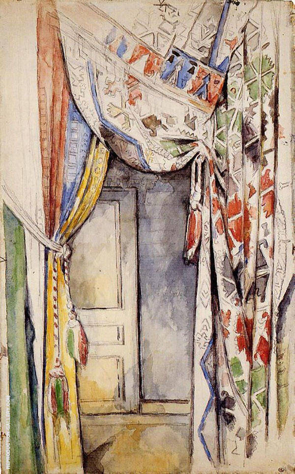 Curtains 1885 By Paul Cezanne
