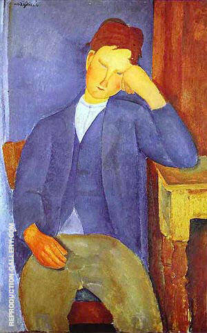 The Young Apprentice 1918 By Amedeo Modigliani Replica Paintings on Canvas - Reproduction Gallery