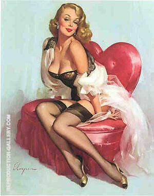 Sweetheart By Pin Ups Replica Paintings on Canvas - Reproduction Gallery