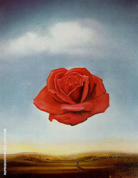 Reproduction of The Rose by Salvador Dali | Oil Painting Replica On CanvasReproduction Gallery
