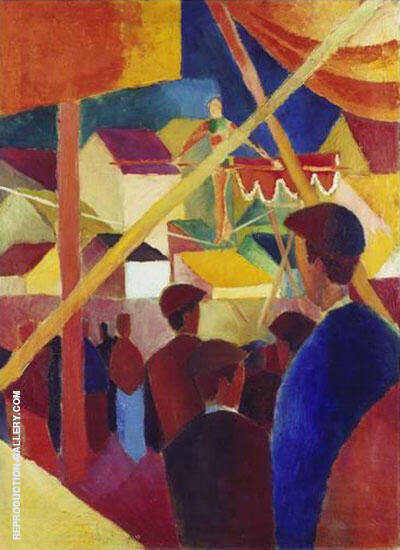 The Tightrope Walker 1914 By August Macke - Oil Paintings & Art Reproductions - Reproduction Gallery