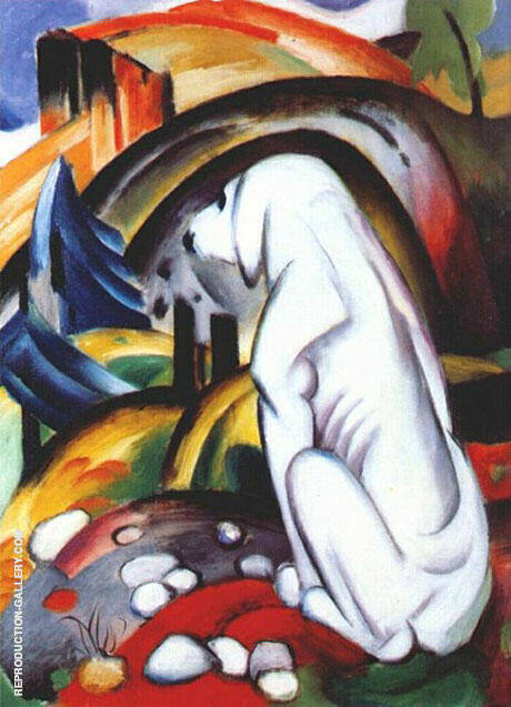 Hound before the World Painting By Franz Marc - Reproduction Gallery