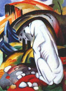 Hound before the World By Franz Marc