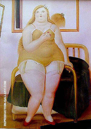 Woman Undressed 1987 Painting By Fernando Botero - Reproduction Gallery