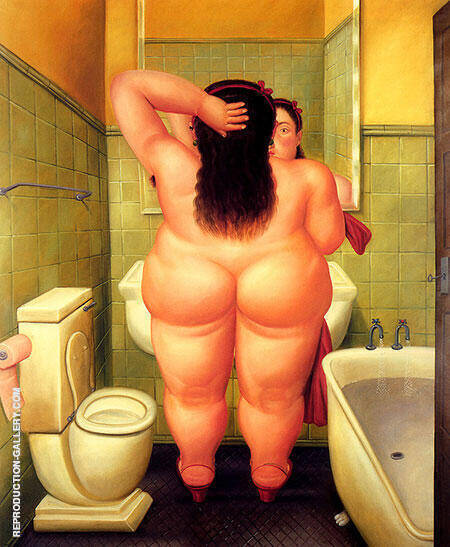The Bath 1989 Painting By Fernando Botero - Reproduction Gallery