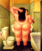 The Bath 1989 By Fernando Botero