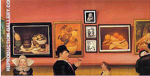 Reproduction of The Botero Exhibition 1975 by Fernando Botero | Oil Painting Replica On CanvasReproduction Gallery