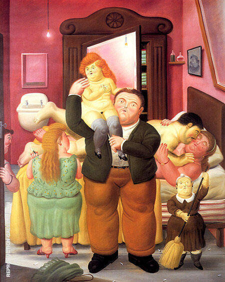 The House of Amanda Ramirez 1988 By Fernando Botero - Oil Paintings & Art Reproductions - Reproduction Gallery