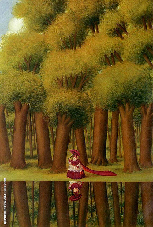 Stroll by the Lakeside1988 By Fernando Botero Replica Paintings on Canvas - Reproduction Gallery
