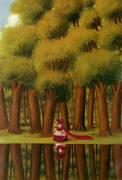 Stroll by the Lakeside1988 By Fernando Botero