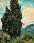 Cypresses 1889 By Vincent van Gogh