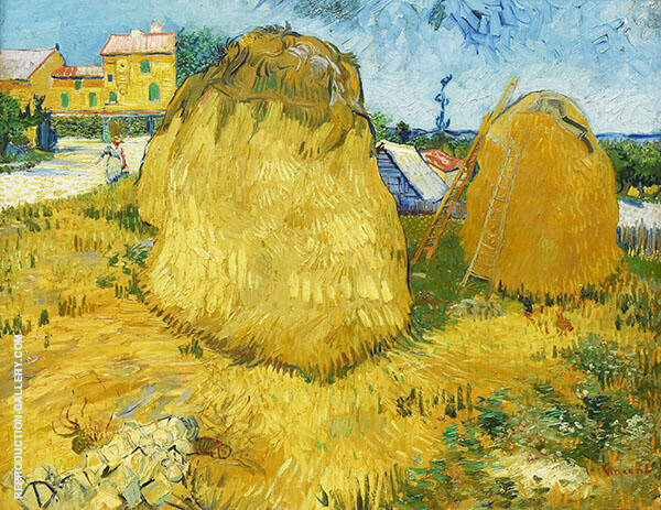 Haystacks in Provence 1888 By Vincent van Gogh