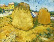 Haystacks in Provence 1888 By Vincent van Gogh