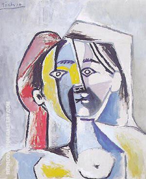 Femme au Chapeau 1954 By Pablo Picasso
