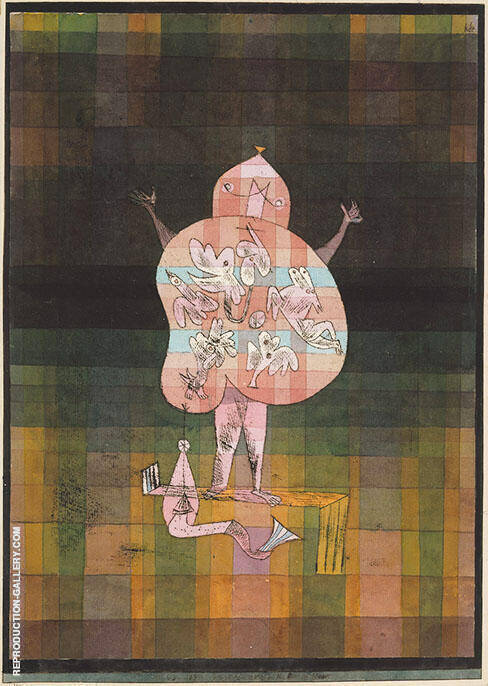 Ventriloquist and Crier in the Moor 1923 Painting By Paul Klee