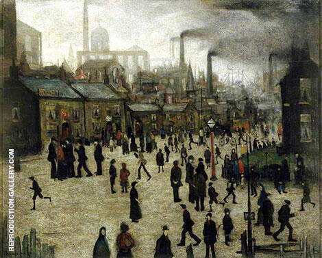 Manufacturing Town 1922 By L-S-Lowry - Oil Paintings & Art Reproductions - Reproduction Gallery