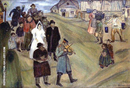 Russian Wedding 1909 Painting By Marc Chagall - Reproduction Gallery