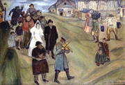 Russian Wedding 1909 By Marc Chagall