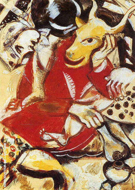 To My Betrothed, 1911 Painting By Marc Chagall - Reproduction Gallery