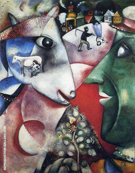 I and the Village, 1911 Painting By Marc Chagall - Reproduction Gallery