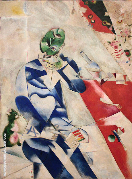 Half Past Three The Poet 1911 By Marc Chagall