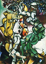 Adam and Eve 1912 By Marc Chagall