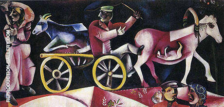 The Cattle Dealer 1912 Painting By Marc Chagall - Reproduction Gallery