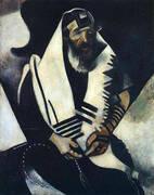 The Praying Jew Rabbi of Vitebsk 1914 By Marc Chagall