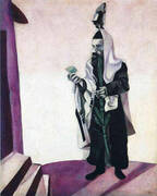 Feast Day Rabbi with Lemon 1914 By Marc Chagall