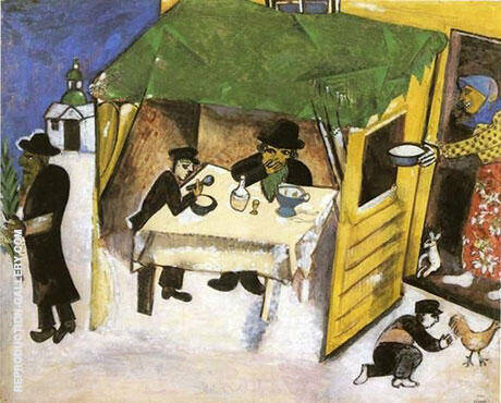 The Feast of the Tabernacles 1916 Painting By Marc Chagall