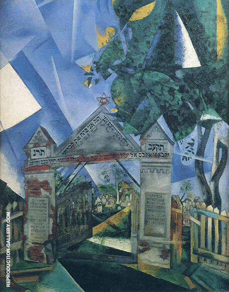 Cemetery Gates 1917 Painting By Marc Chagall - Reproduction Gallery