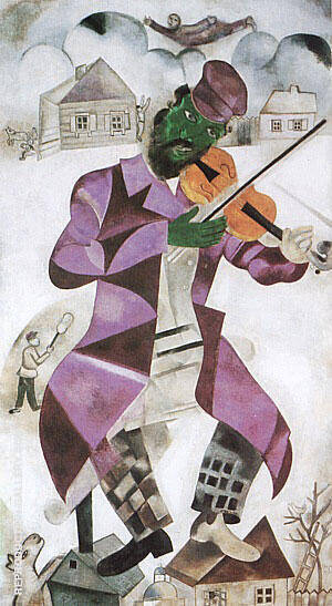 The Green Violinist 1923 Painting By Marc Chagall - Reproduction Gallery