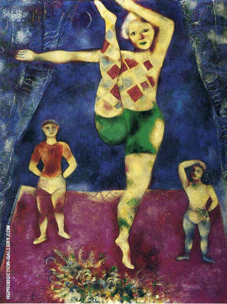 The Three Acrobats 1926 By Marc Chagall - Oil Paintings & Art Reproductions - Reproduction Gallery