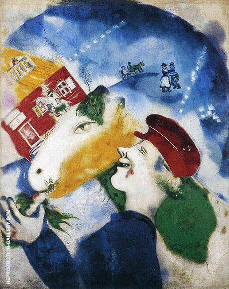 Peasant Life, 1925 Painting By Marc Chagall - Reproduction Gallery