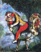 The Rooster 1929 By Marc Chagall