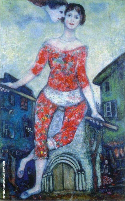 The Acrobat, 1930 By Marc Chagall Replica Paintings on Canvas - Reproduction Gallery