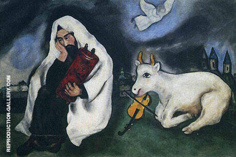 Solitude 1933 By Marc Chagall Replica Paintings on Canvas - Reproduction Gallery