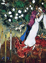 The Three Candles 1940 By Marc Chagall